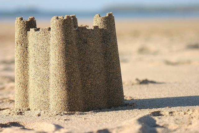 Smart like you're building a sand castle