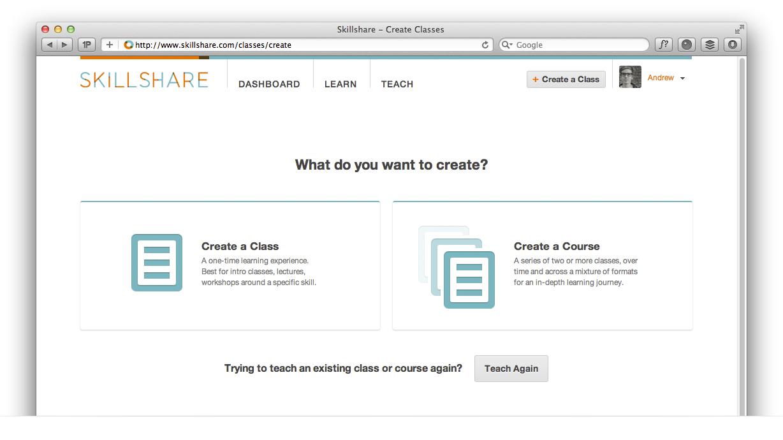 Create a Class or Course
