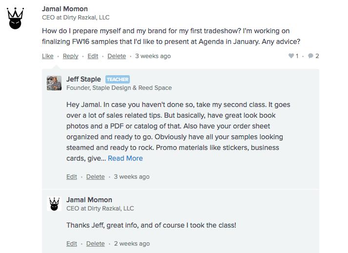 Screenshot of Jeff Staple's AMA