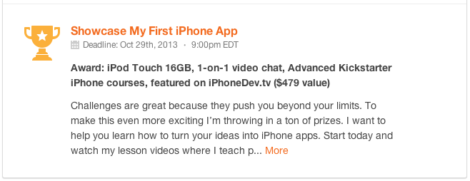 Program iPhone Apps: Become an iPhone Developer Challenge