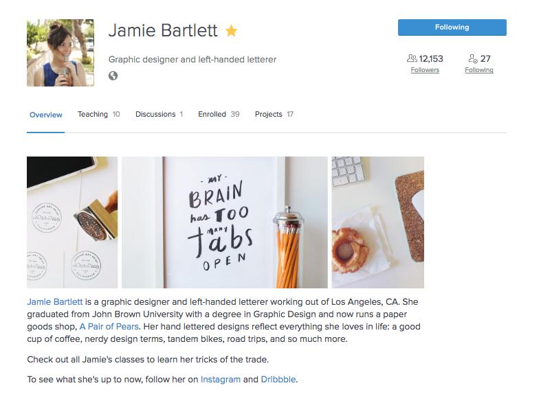 Jamie Bartlett's Skillshare profile