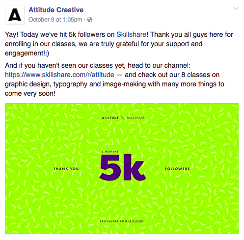 Channel marketing example from Skillshare teachers  Evgeniya & Dominic Righini-Brand