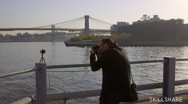 mobile photographer Dan Rubin taking photographs