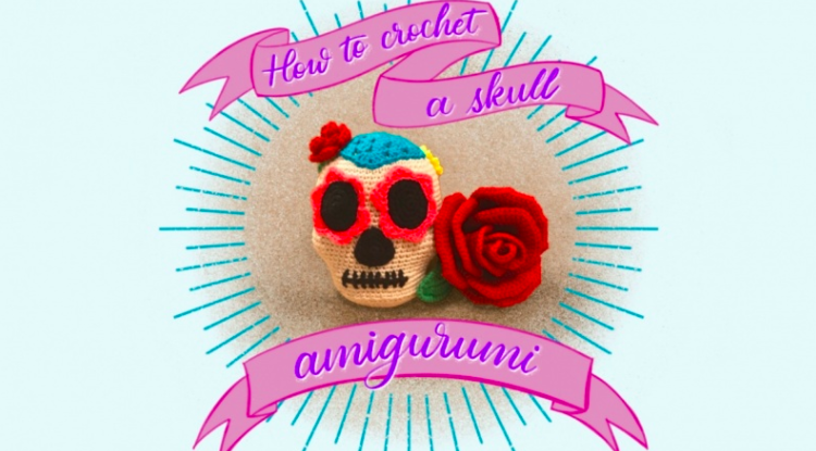 Learn to crochet skull amigurumi with  Andrea