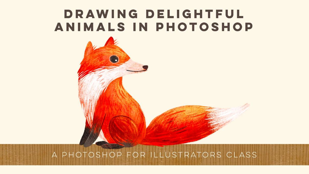 Use photoshop to draw delightful animals with Stephanie