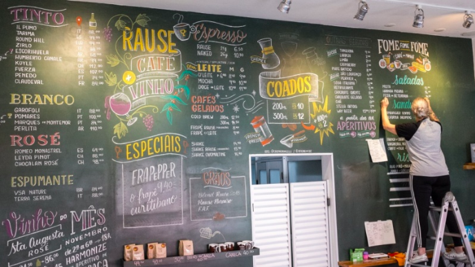 Cristina  will teach students chalk hand-lettering for bars and restaurants.
