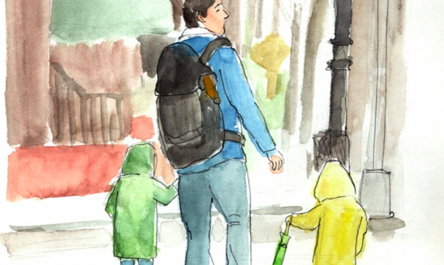 Sketch people in watercolor and ink with  Melissa .