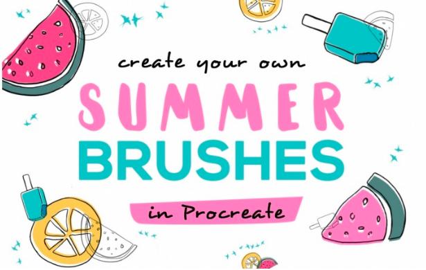 Make custom summery brushes in Procreate with  Lilli .