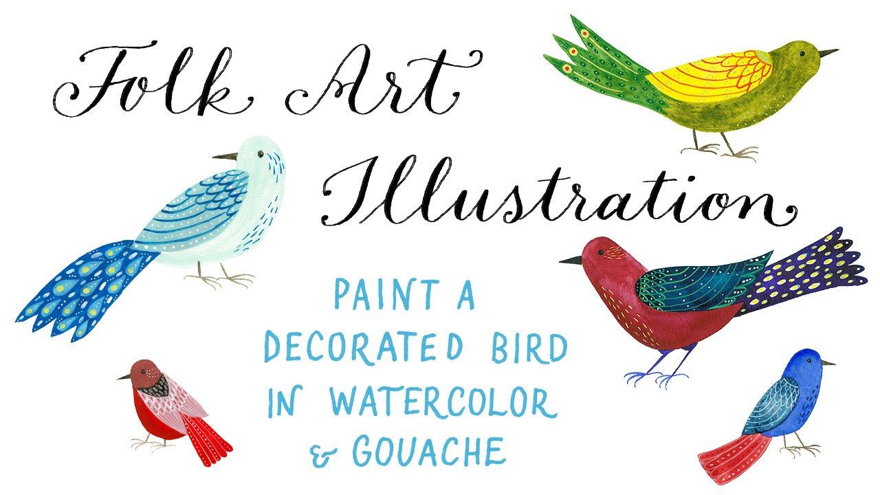 Create folk art style birds with Julia