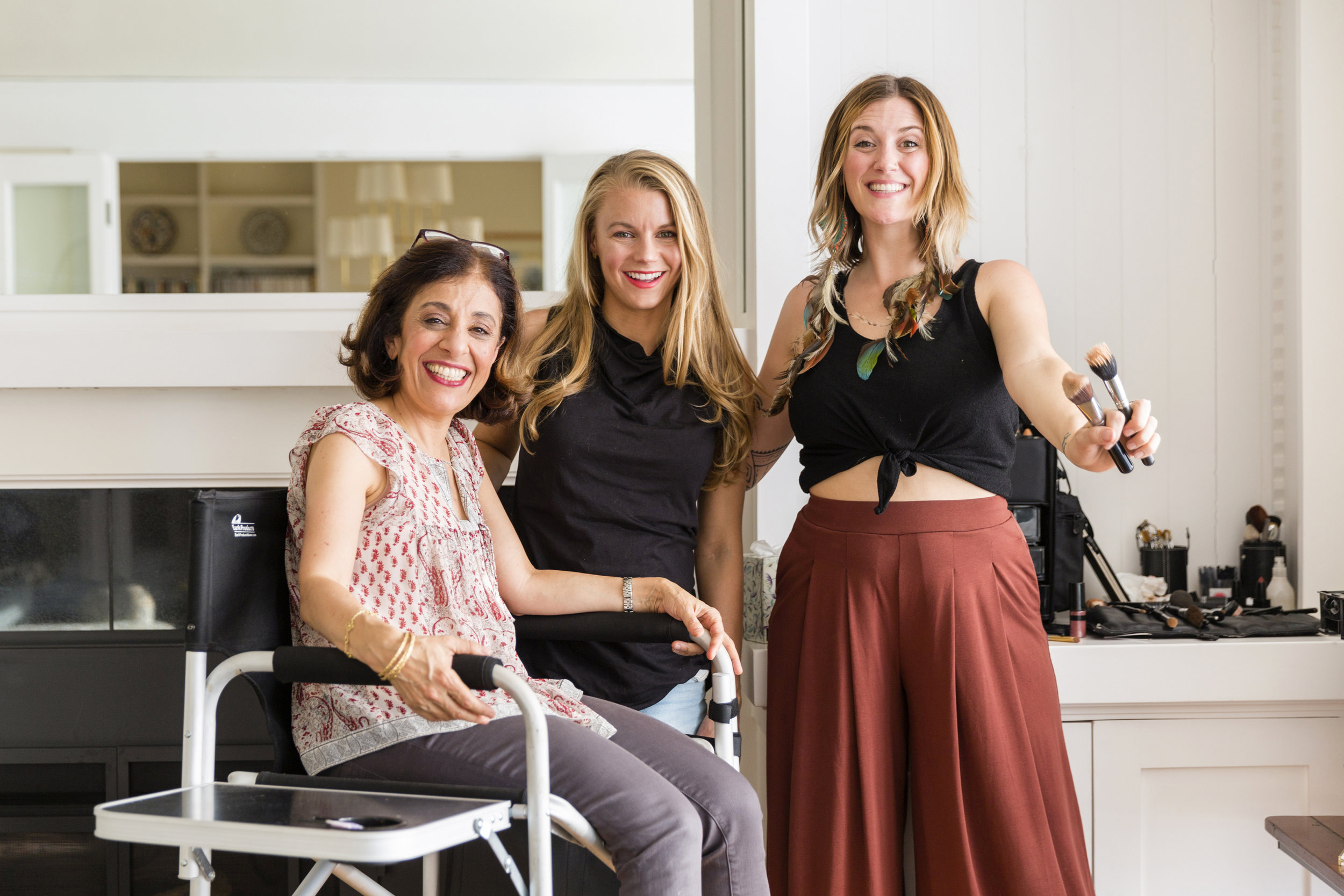 L-r: Jaleh Bisharat,Kimberly Shenk and Misty Spinney, Clean Makeup Artist