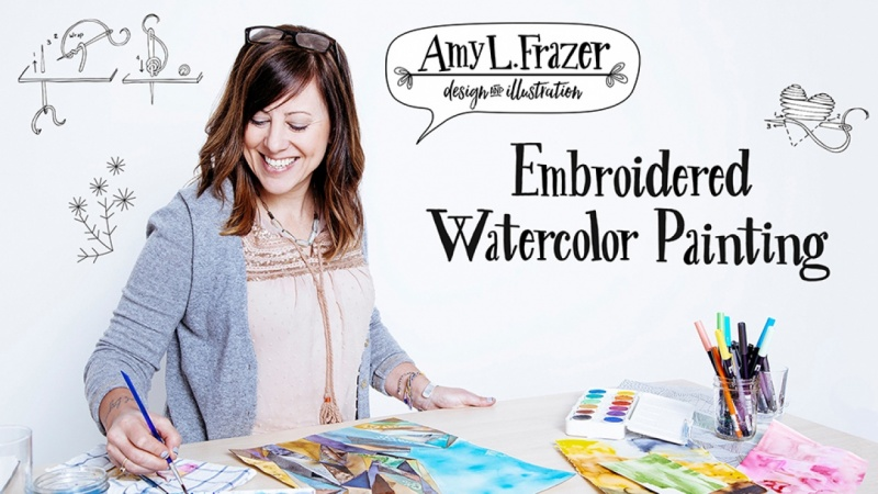 Amy will demonstrate how to embellish watercolors with embroidery