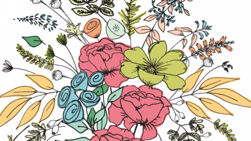 Digitize a floral bouquet in Adobe Illustrator with Gina