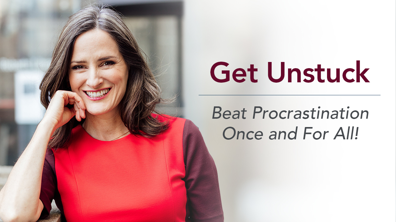 Jill McAbe's new class,  Get Unstuck: Beat Procrastination Once and For All!