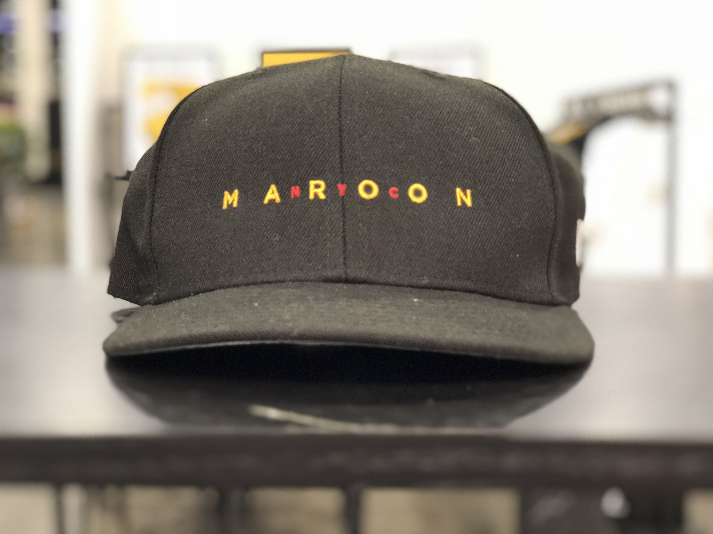 Headwear designed by Skillshare student Chris Frangoulis for his brand,  Maroon NYC,  on display for industry representatives to consider