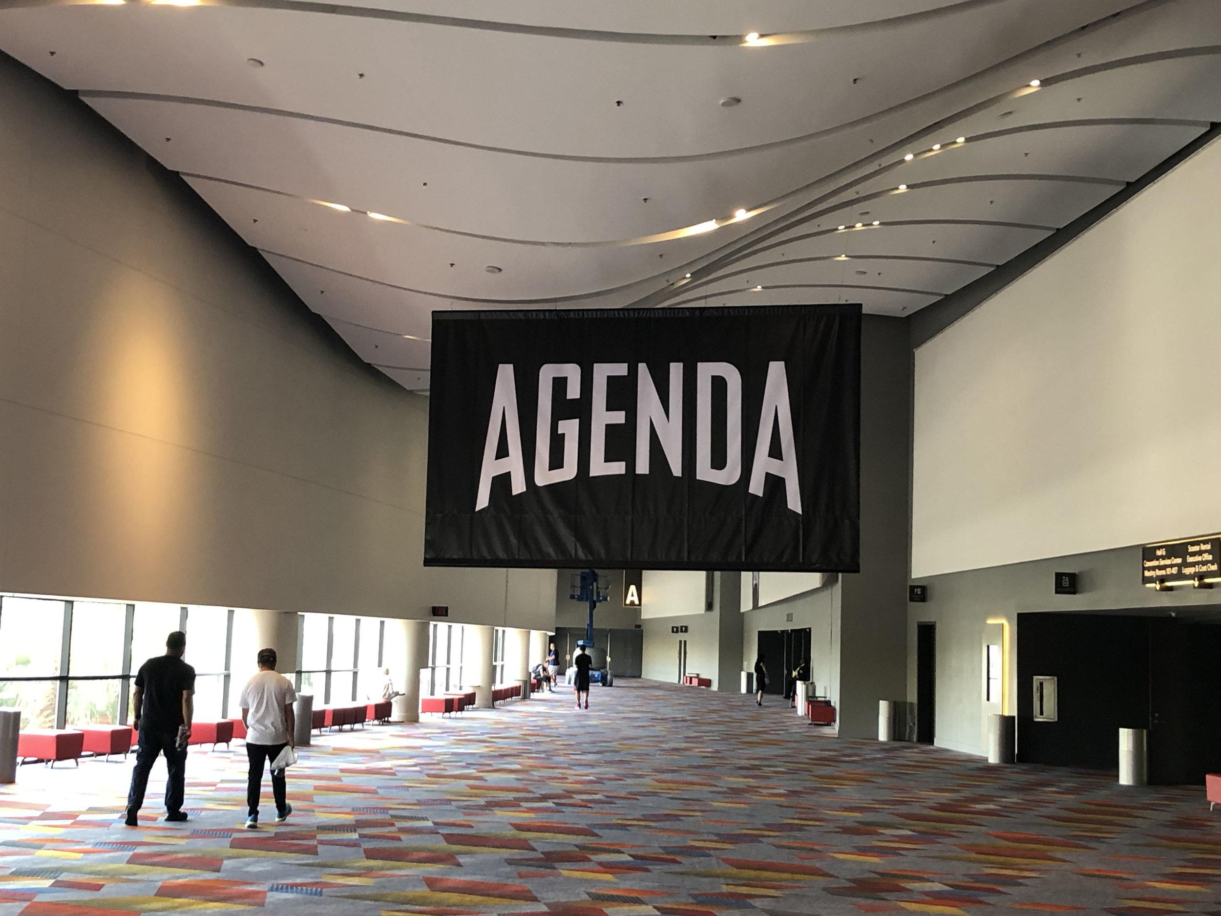 Skillshare students arrive at the Agenda Show in Las Vegas