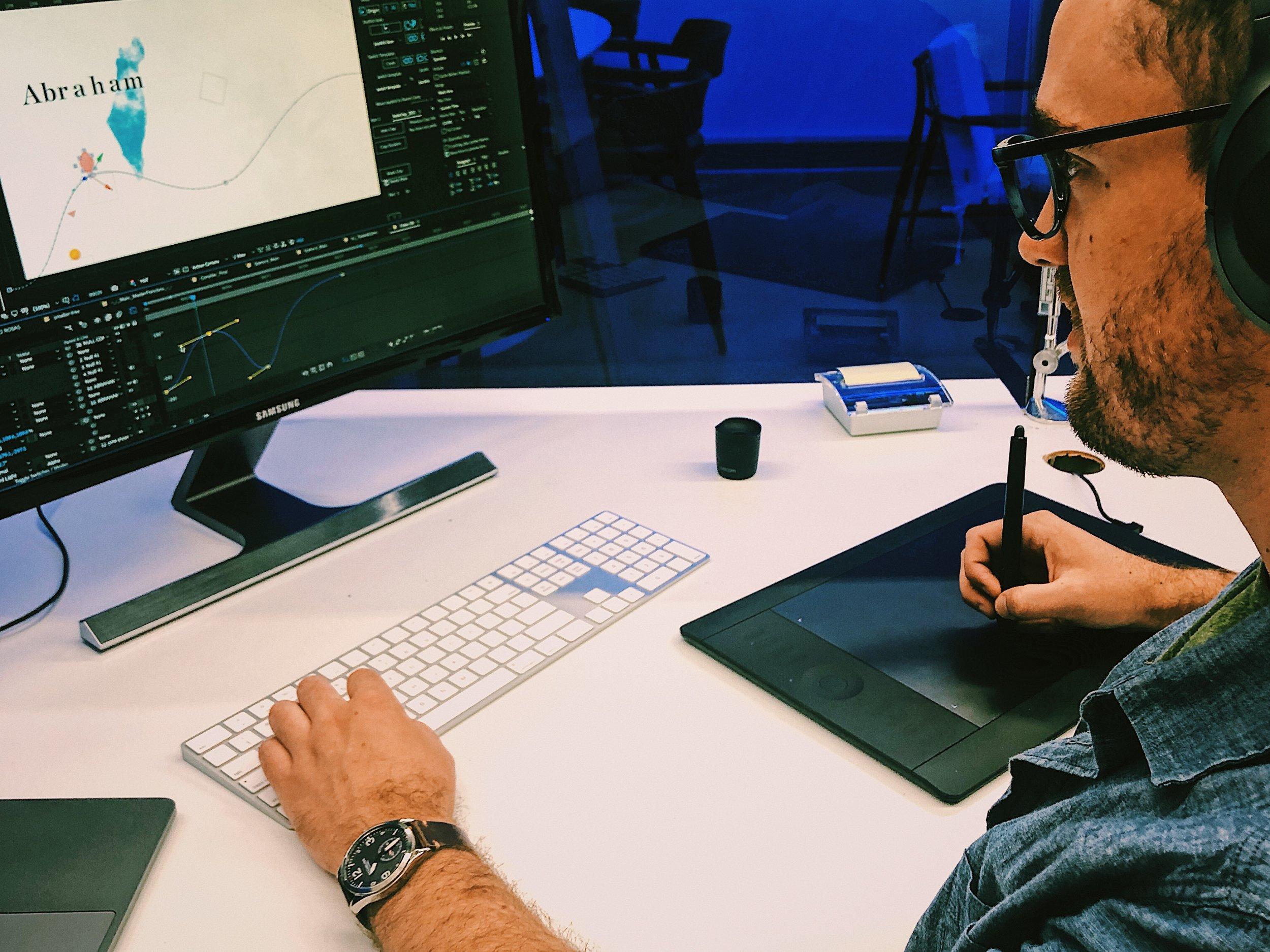 Greg Stewart at work