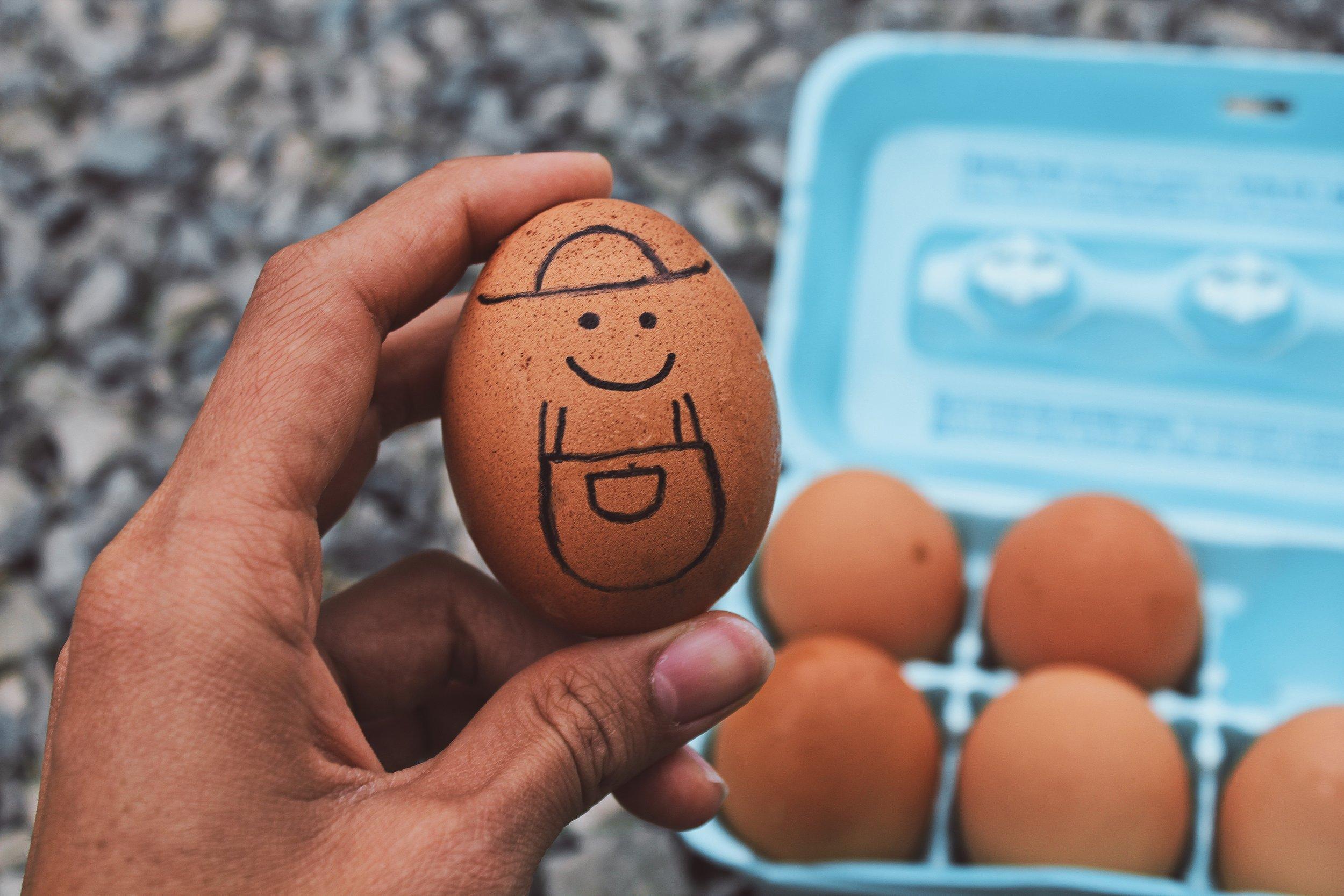 "Doodling is ""egg-celent"" for strengthening your memory ( image source )"