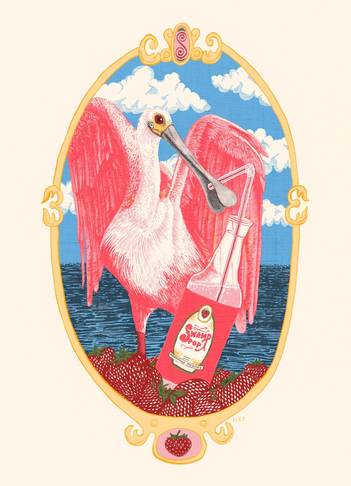 Swamp Pop Soda poster by Nora Patterson (image courtesy of the artist)
