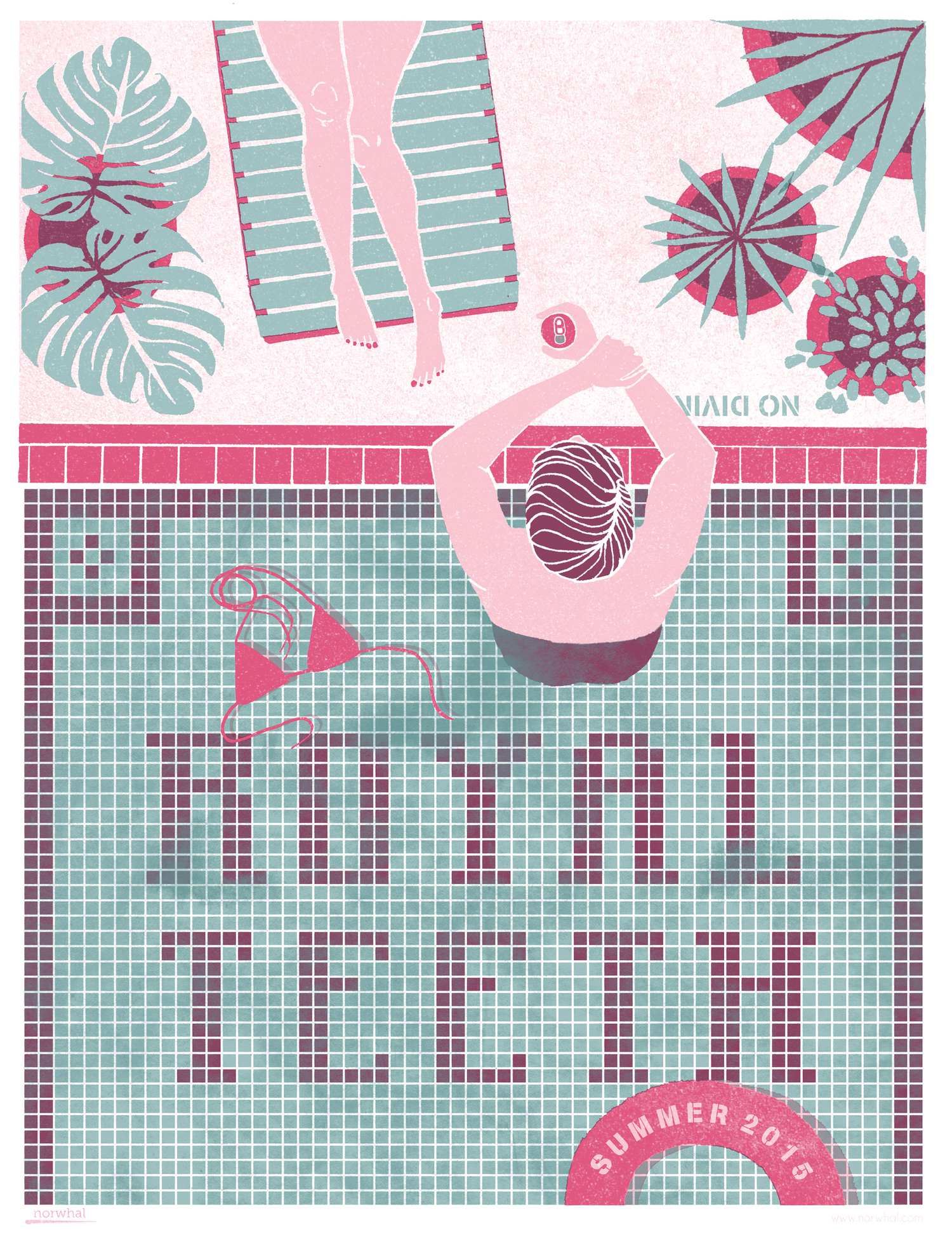 Royal Teeth Screen Print by Nora Patterson (image courtesy of the artist)