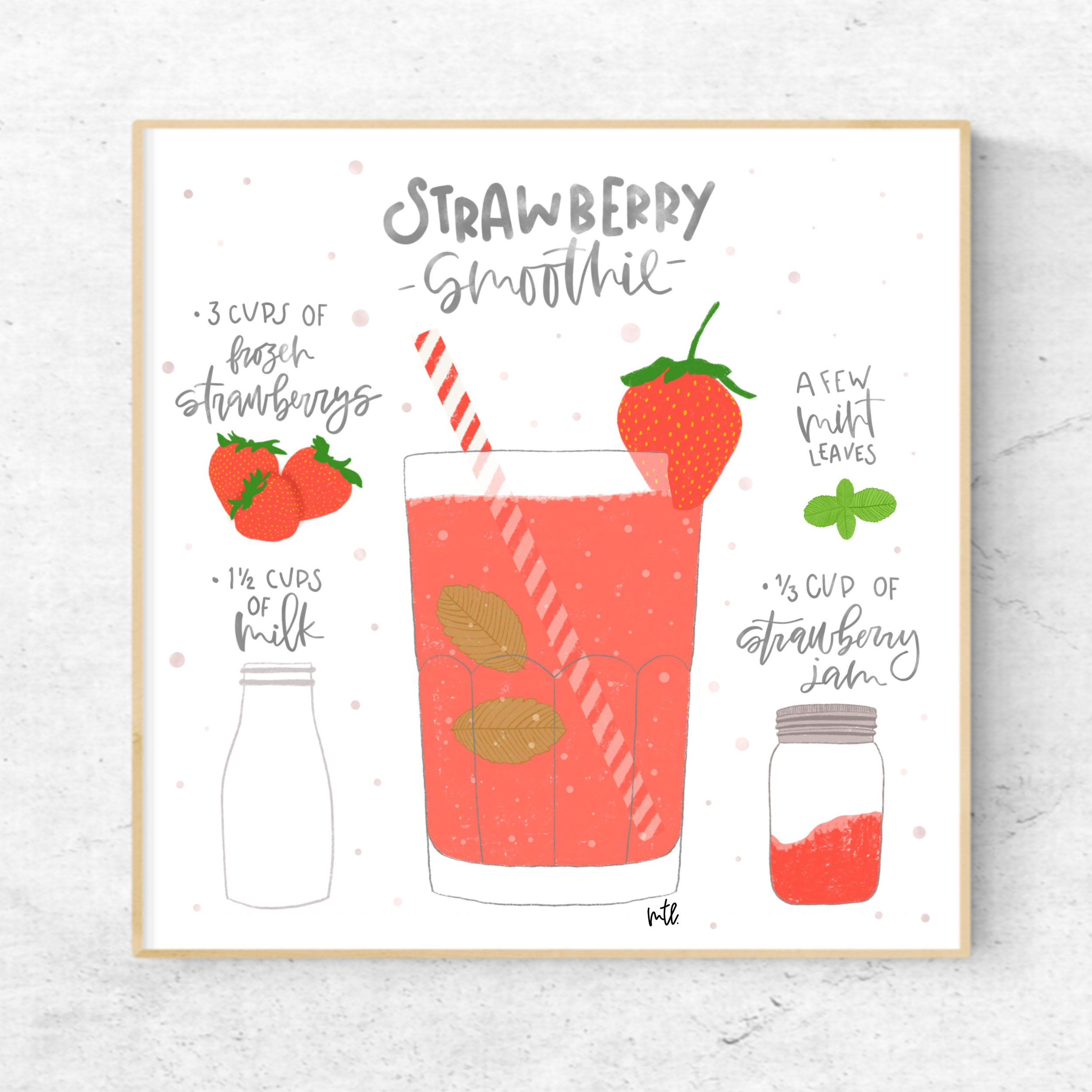 Image by Skillshare student Maria F. for    Recipe Illustrations on Your iPad in Procreate + 26 Free Procreate Textures and Stamps    with Top Teacher Liz Kohler Brown