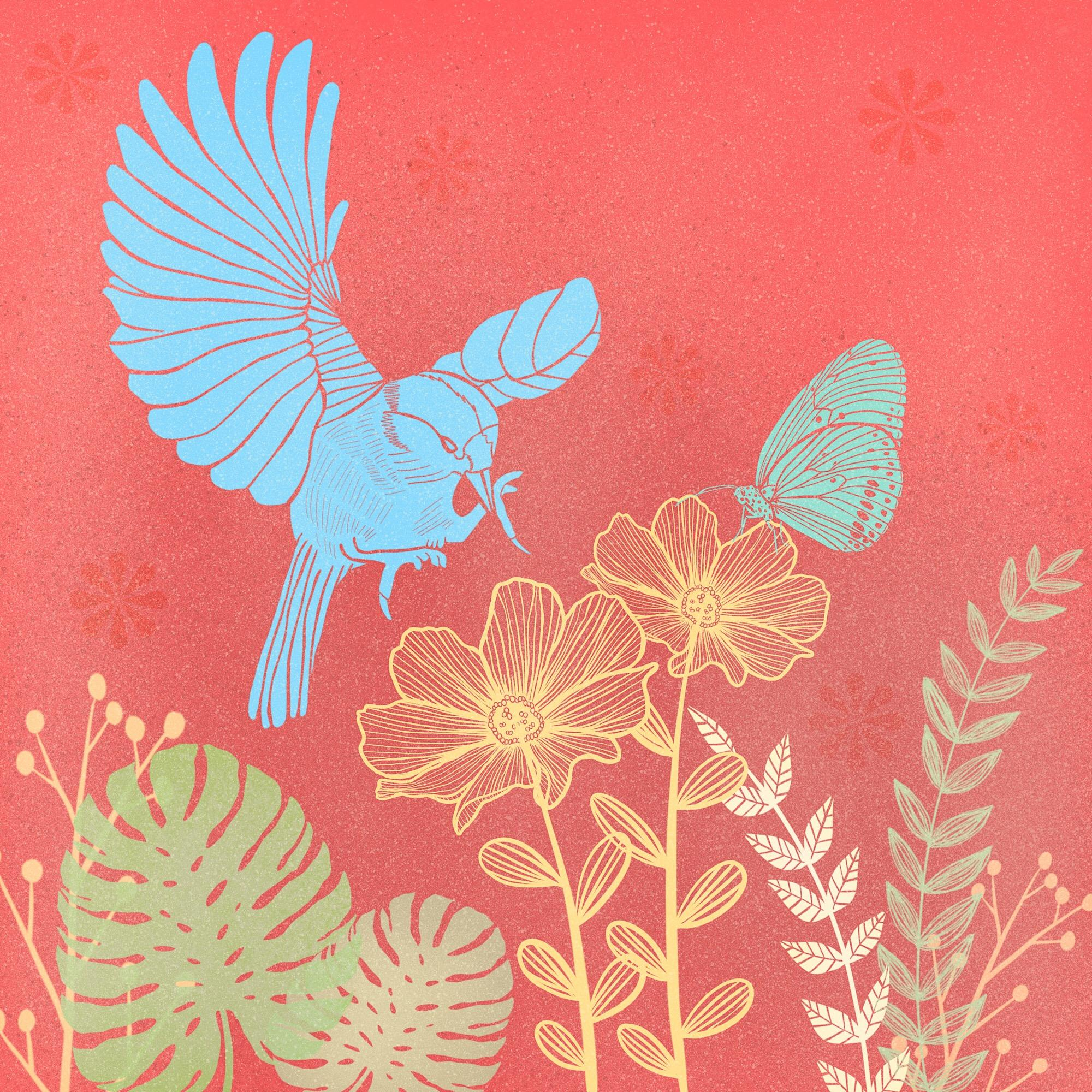 My Garden…Block Print Style  by Angela R.