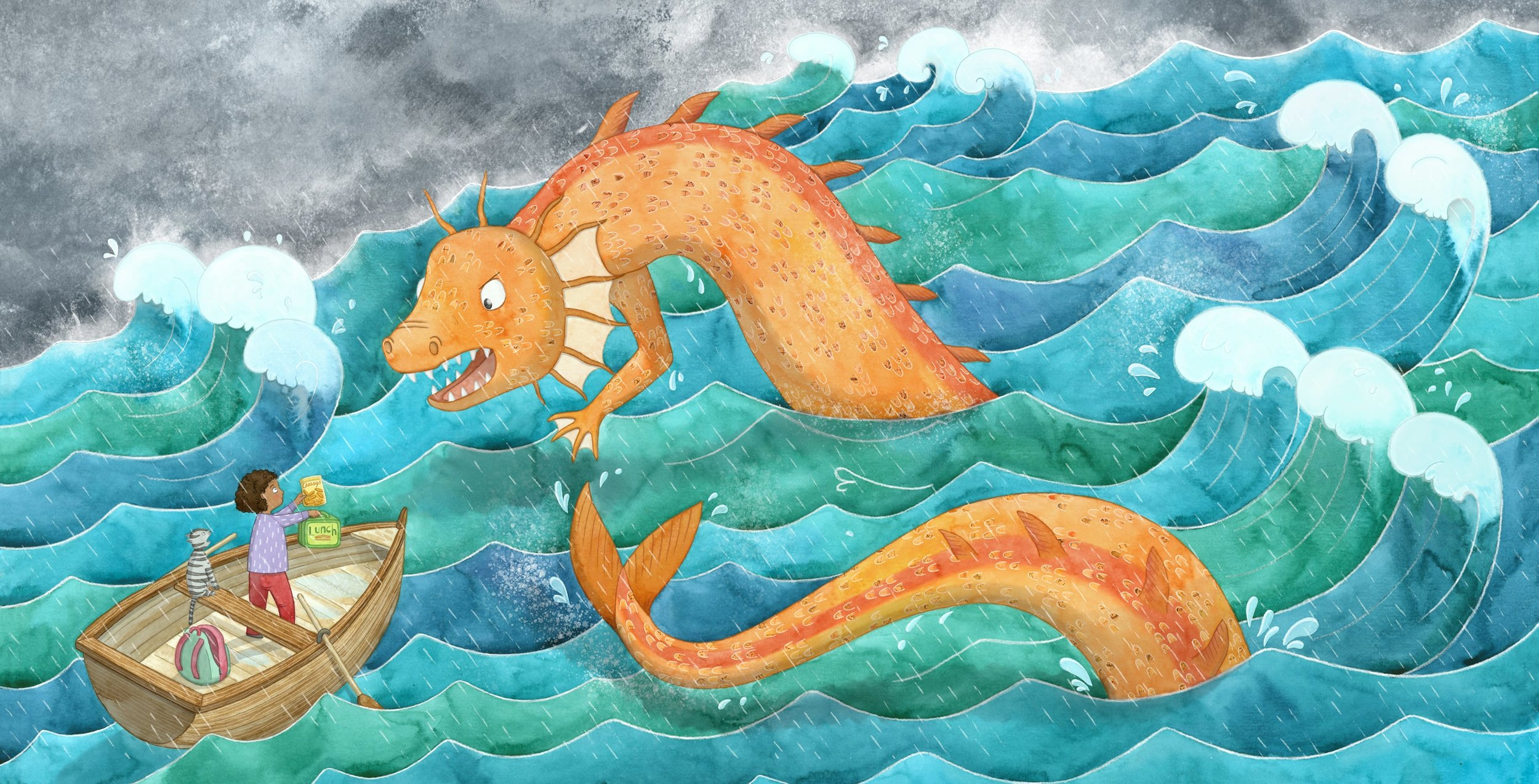 Image: Sea Serpent by Lucy Farfort