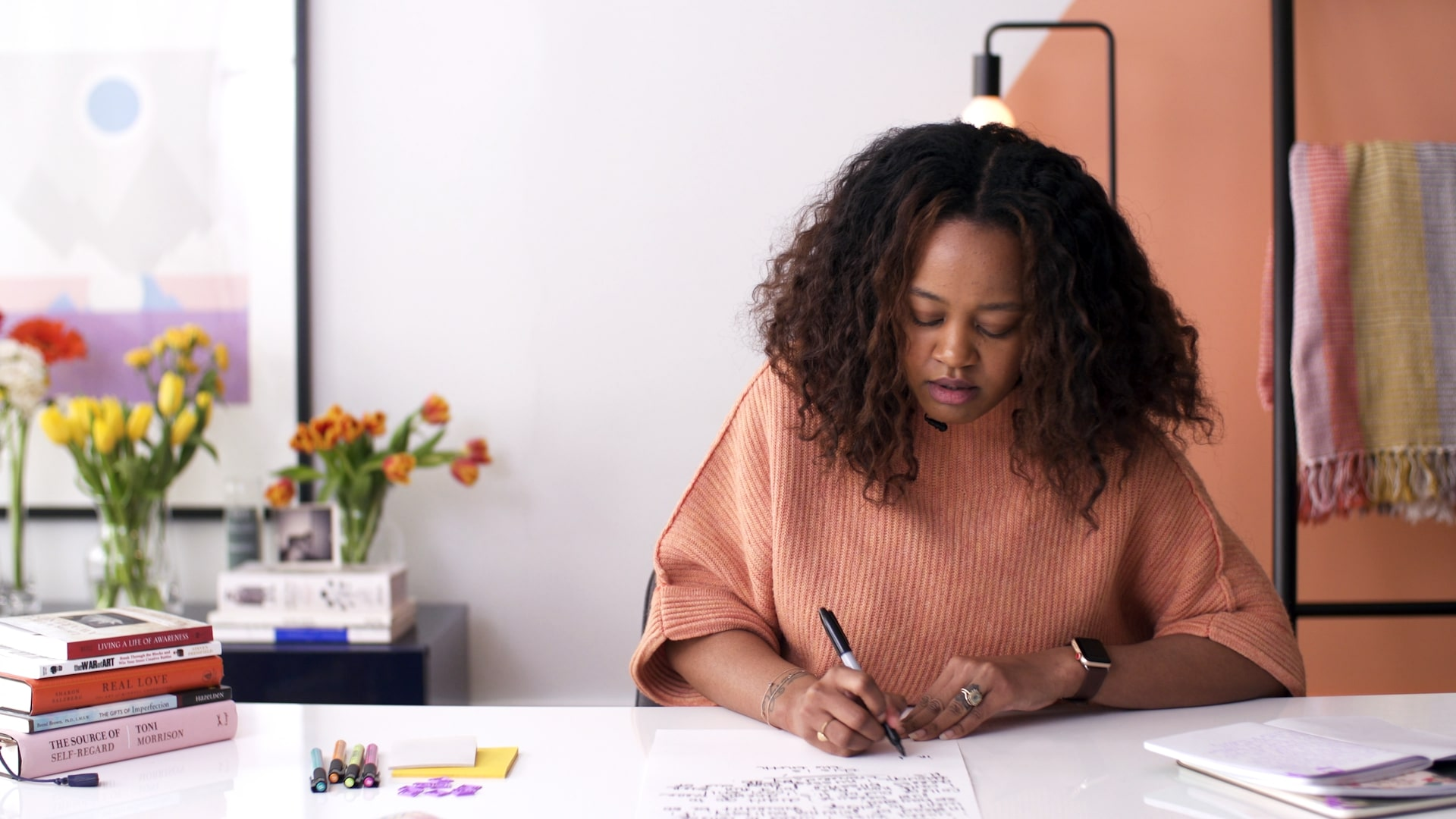 Image still from Yasmine Cheyenne's Skillshare Originals class,    Writing for Self-Discovery: 6 Journaling Prompts for Gratitude and Growth