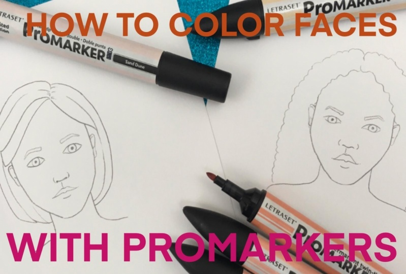 Emma  will teach how to create a multidimensional facial illustration by blending alcohol pens.