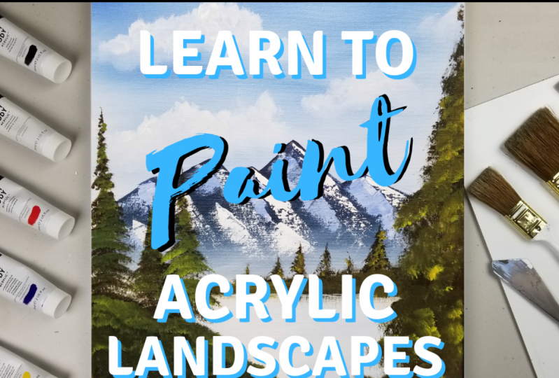 Explore the fundamentals of painting landscapes using acrylic paints with  Jason .