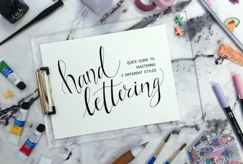 Voni  teaches how to illustrate 3 different hand lettering styles use only a pencil and paper.