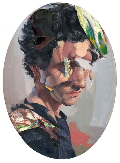"""'self-portrait 2018"""" (oil on panel, 6""""x9"""") © Zach K. Mendoza"""