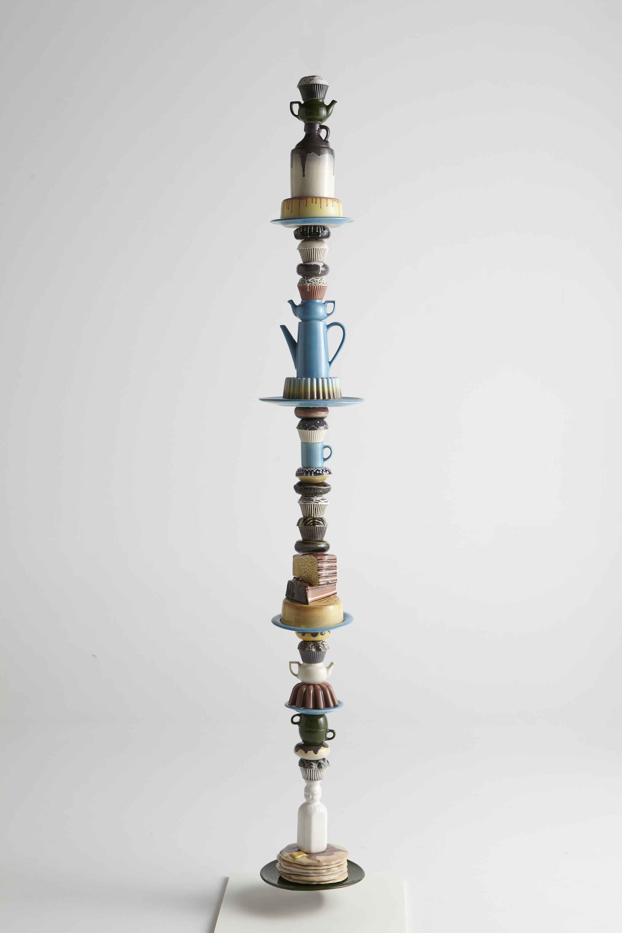 'Endless Column' (slip cast vitreous china, 108 x 4-12 x 4-12 inches, 2013) by Justin Richel *collection of Kohler Co.