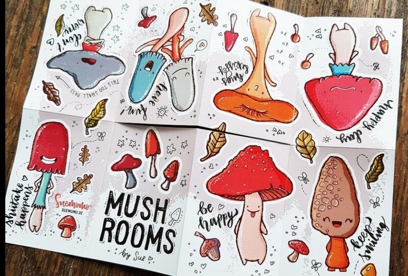 "Sue Lork's ""   Mushroom Zine   """