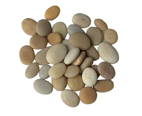 Small rocks and stones are great for weighing down your DIY cement planter placeholder.