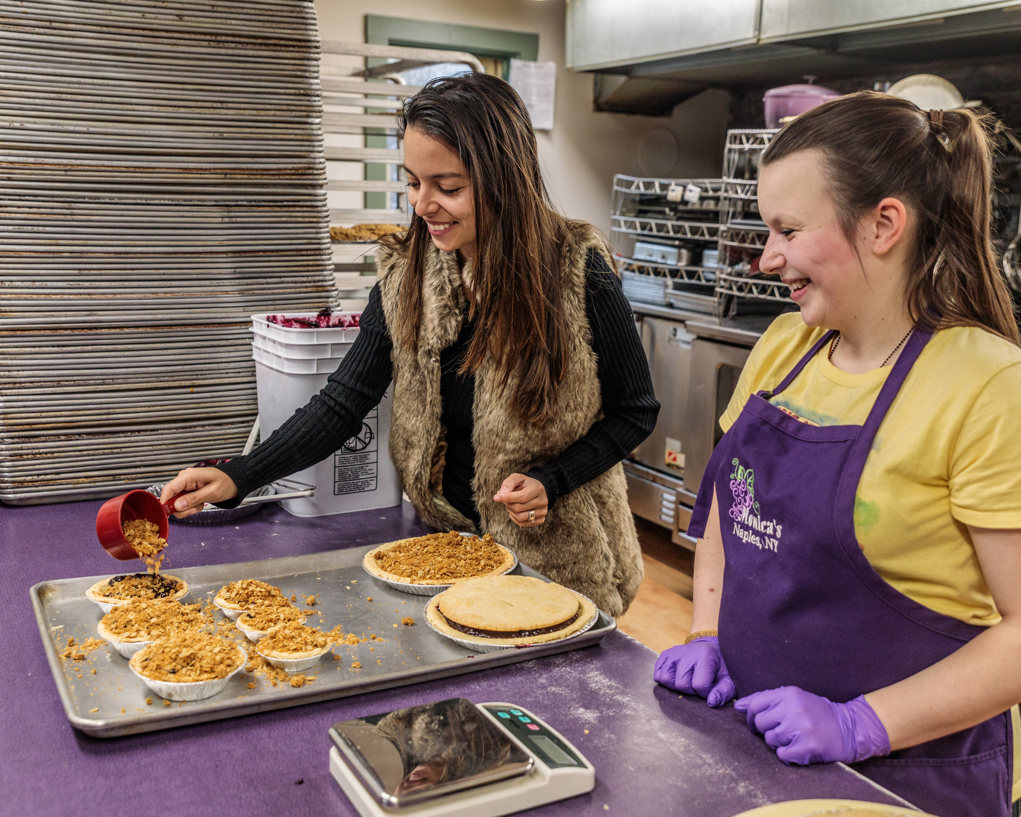 Grape piemaking at Monica's Pies // 3 Days in the Finger Lakes: A Wine Trail Itinerary