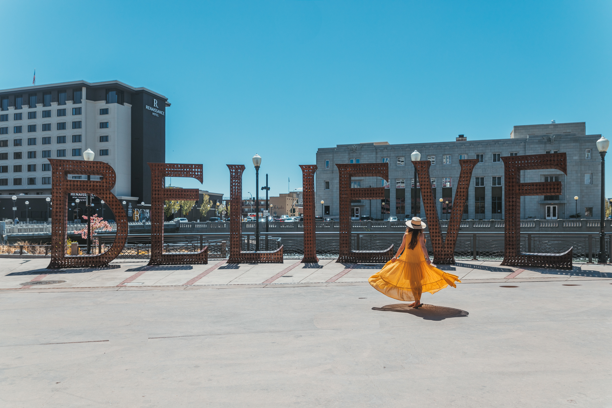 Burning Man Art in the Riverwalk District of Reno // A Quick Guide to North Lake Tahoe & Reno
