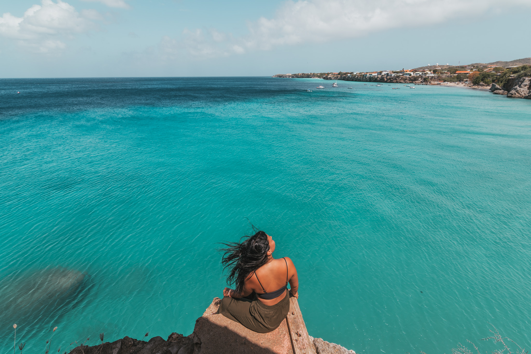 The beautiful turquoise beaches of Curaçao // 20 Photos to Show You Why Curaçao Needs to Be On Your Travel Radar // www.readysetjetset.net #readysetjetset #curacao #caribbean #beach #ocean #paradise #travel