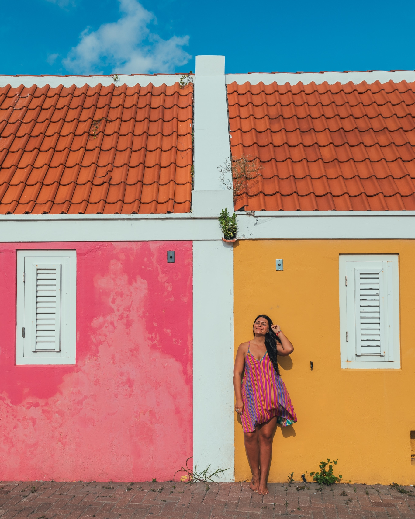 The colorful Pietermaai District of Willemstad, Curaçao // 20 Photos to Show You Why Curaçao Needs to Be On Your Travel Radar // www.readysetjetset.net #readysetjetset #curacao #caribbean #beach #ocean #paradise #travel