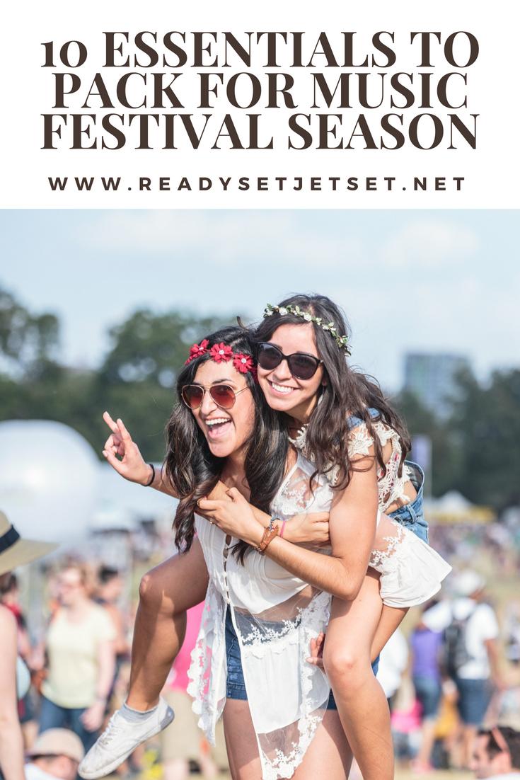10 Essentials to Pack for Summer Music Festival Season // www.readysetjetset.net #readysetjetset #festivals
