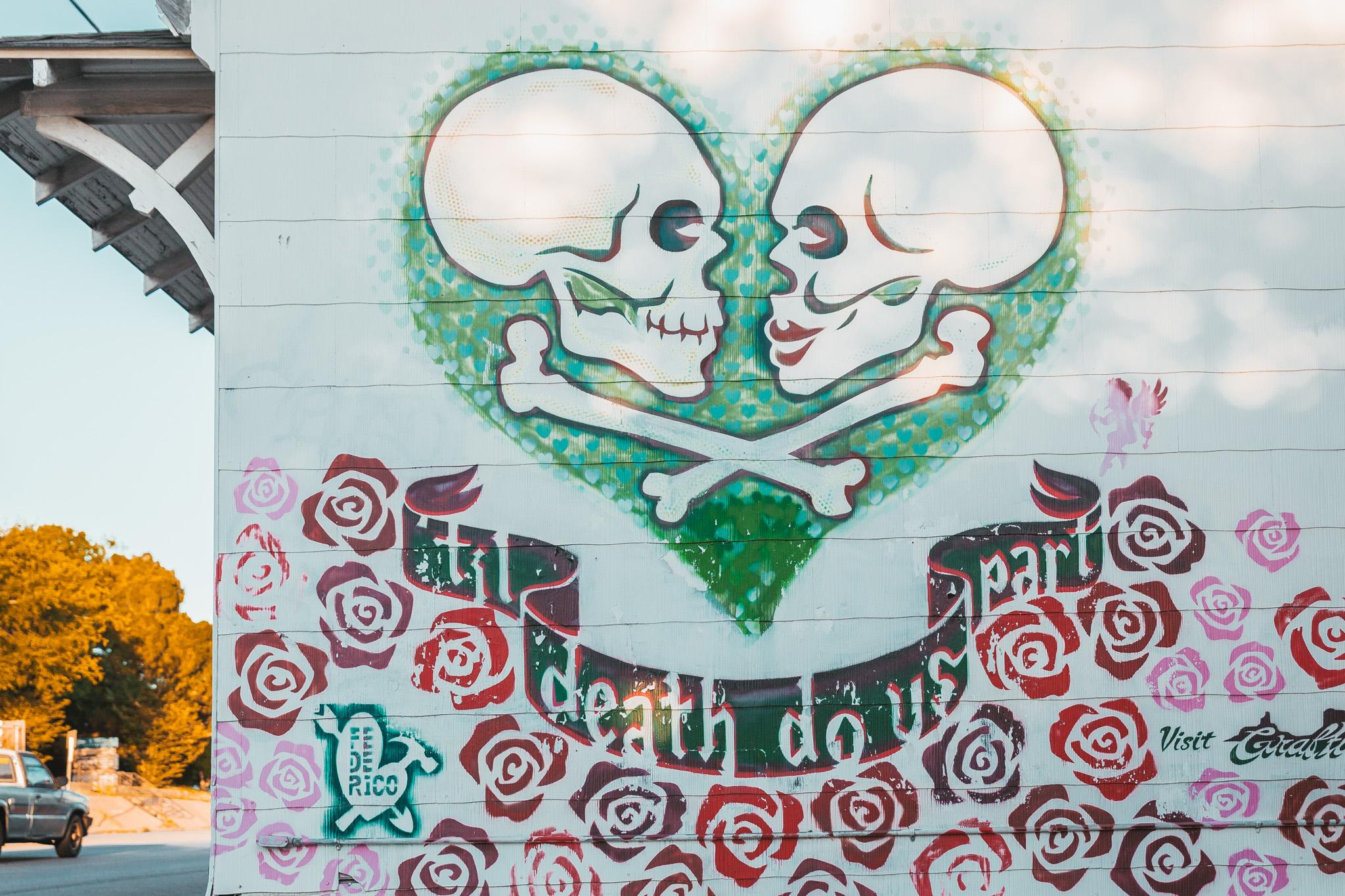 'Til Death Do Us Part Mural in East Austin