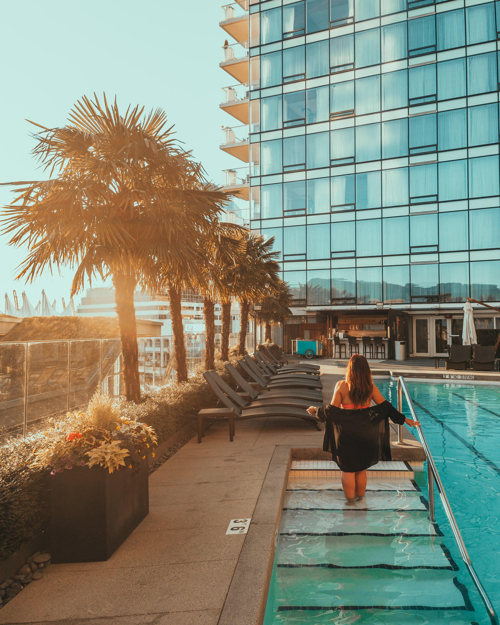 The outdoor pool at the Fairmont Pacific Rim // The Quick Guide to Visiting Vancouver, BC #readysetjetset