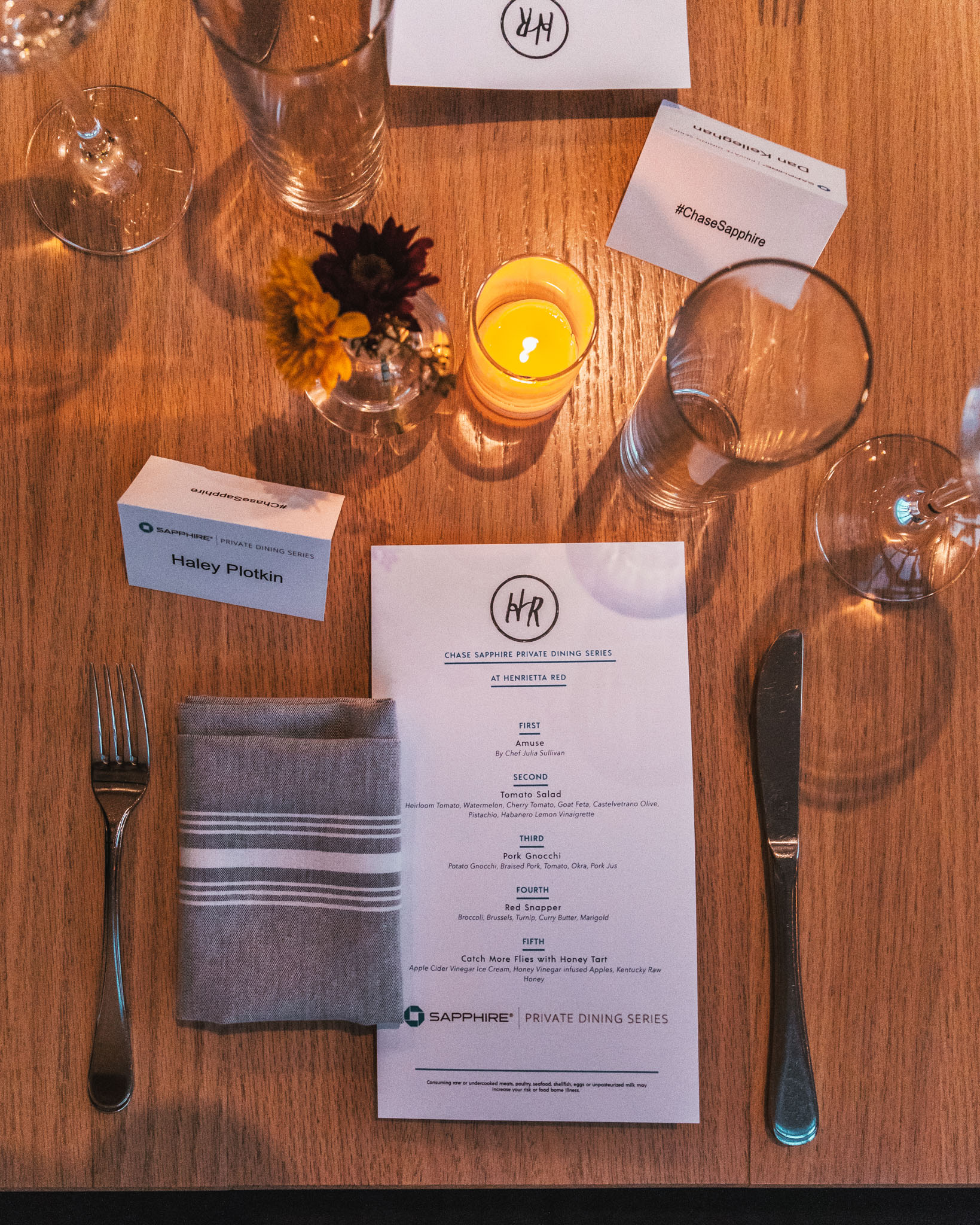 Chase Sapphire Private Dining Series at Henrietta Red // A Weekend at Hotel Thrillist #readysetjetset