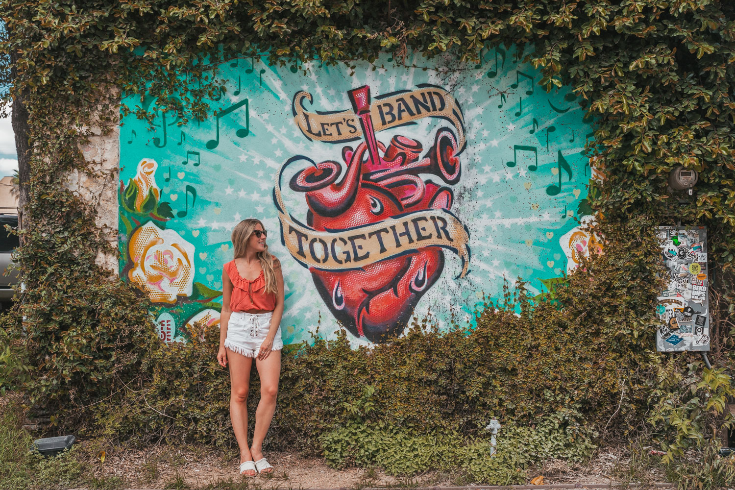 Let's Band Together Mural in East Austin