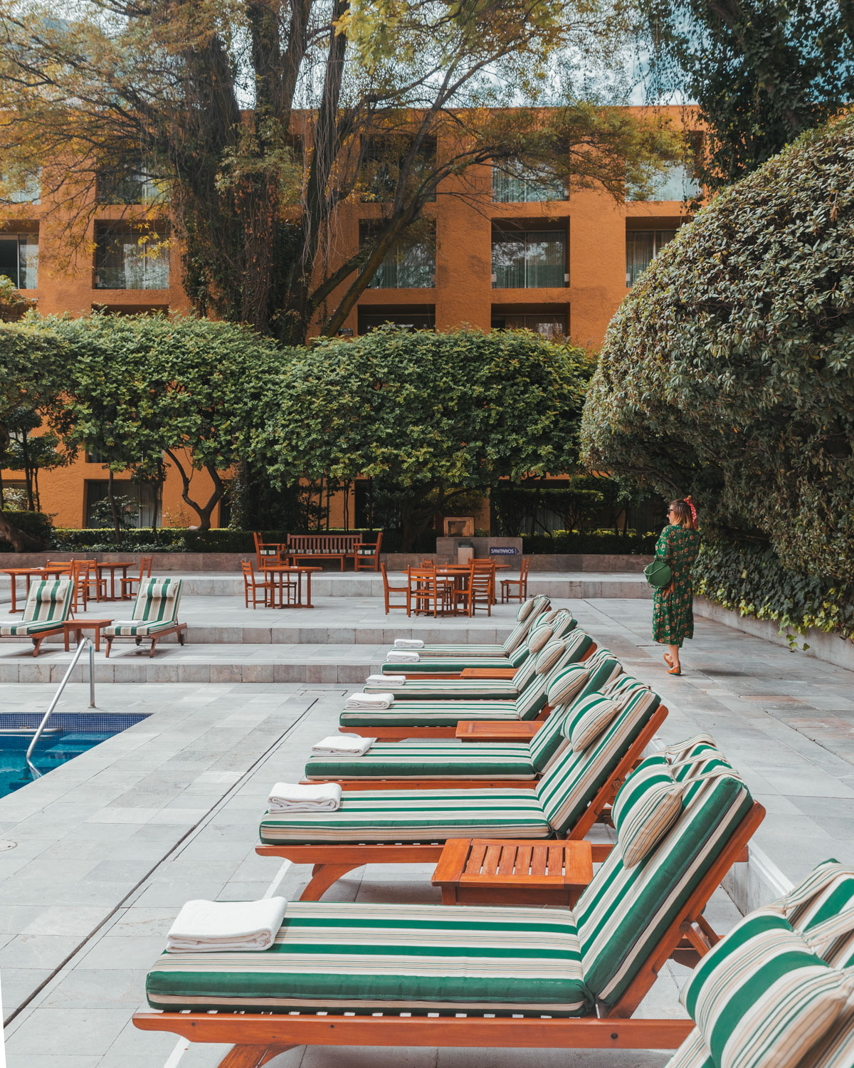 The pool at Camino Real Polanco // The Most Instagrammable Spots in Mexico City #readysetjetset