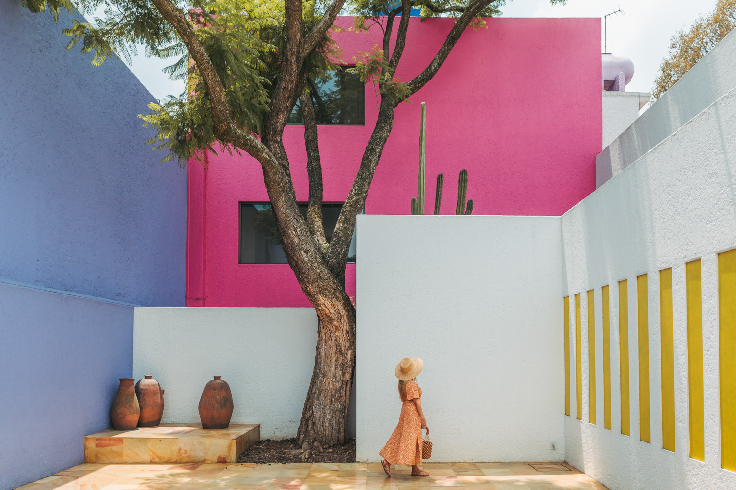 The courtyard of Casa Gilardi // The Most Instagrammable Spots in Mexico City #readysetjetset