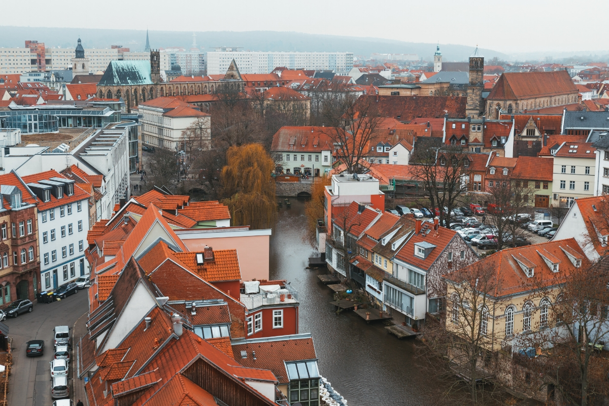 Erfurt from Ägidienkirche // German Christmas Markets and Beyond: A Trip to Thuringia in December
