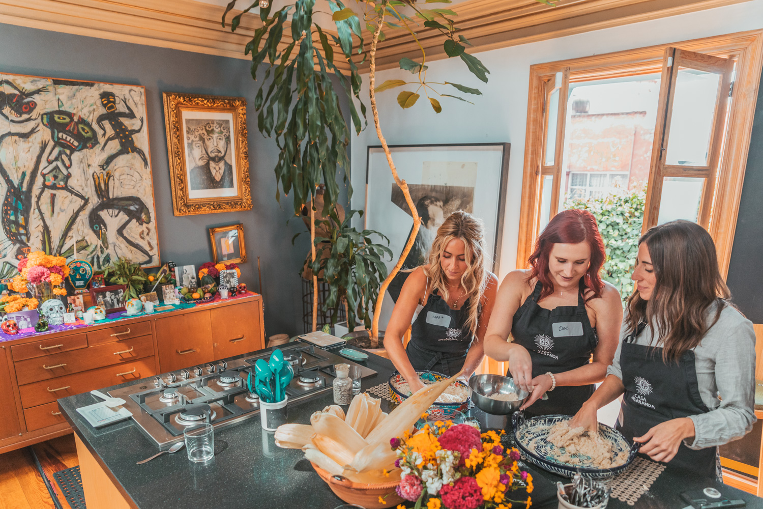 Casa Jacaranda cooking class // What to Do In Mexico City for Day of the Dead // www.readysetjetset.net #readysetjetset #mexicocity #dayofthedead #traveltips #blogtips
