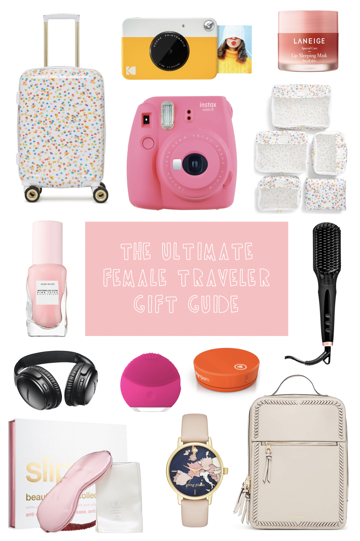 The Ultimate Female Traveler Gift Guide // Travel gift ideas for the ladies in your life, including tech, fashion, luggage ideas, and more! // www.readysetjetset.net #readysetjetset #giftguide #holidayguide #shopping #travelgifts