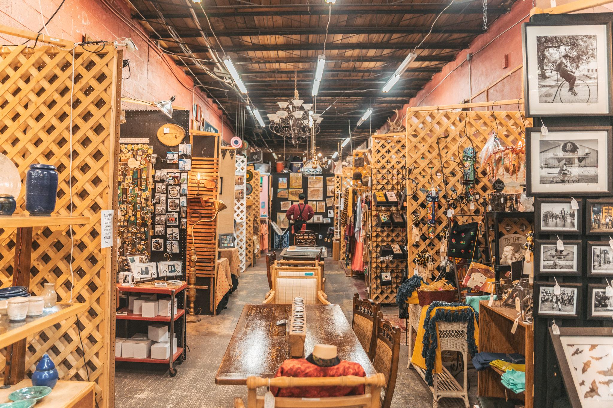 Secondline Arts and Antiques NOLA - The Rainy Day Guide to New Orleans www.readysetjetset.net #readysetjetset