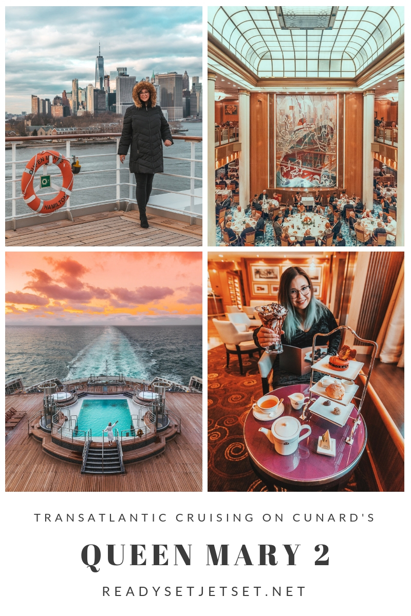 Transatlantic Cruising on the Cunard Queen Mary 2 // #readysetjetset #cunard #transatlanticcruise #uk #london #southampton #nyc #newyork #luxurycruise #qm2